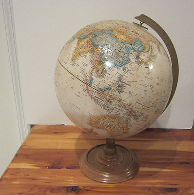 "Vintage 70s Replogle World Classic Series Raised Relief Globe USSR 12"" Diameter"