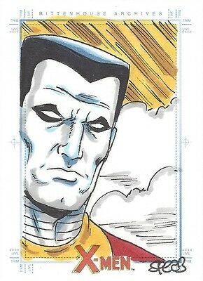 2009 X MEN ARCHIVES - MARK SPEARS SKETCH of Colossus