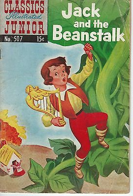 Classics Illustrated Junior No.507 Jack And The Beanstalk April 1954 G-Condition