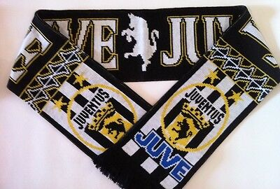 JUVENTUS Football Scarves NEW from Superior Acrylic Yarns