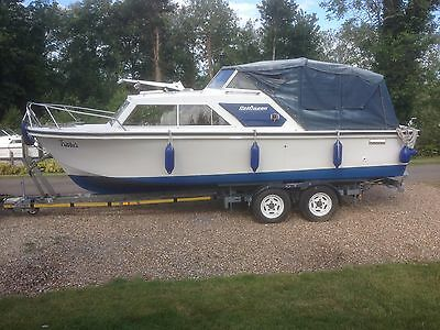 Boat, Selco Selqueen, River Cruiser, 24ft 6in, With Trailer, Thames Cruiser