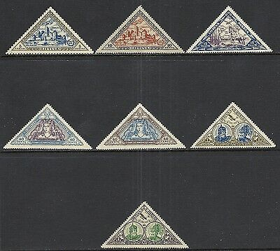 Lithuania Scott C63 - C70 (Less C66) Mh Set - 1933 Airmail Issue