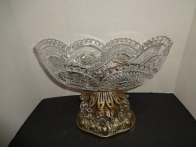 Vintage Glass Compotes - Bowl With 14 Prisms
