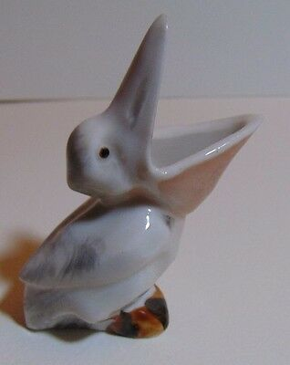 Vintage Open Mouth Pelican Figurine