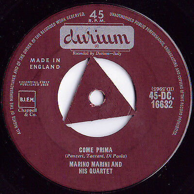 Marino Marini And His Quartet ‎– Come Prima 50s Jazz Single Durium Swing VG Easy