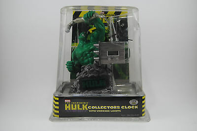 Marvel The Incredible Hulk Collectors Clock w/Working Lights 2003
