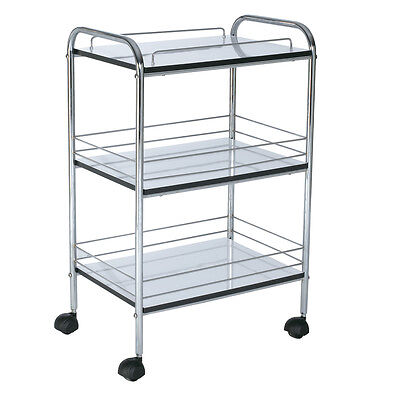 Trolley Cart Storage Salon Supplies Beauty Room Hairdressing 3 Shelf Stainless S