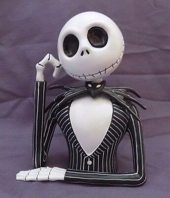 Disney The Nightmare Before Christmas JACK SKELETON Piggy Coin Bank Plastic CUTE