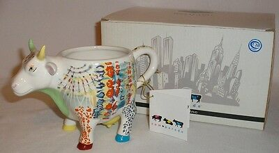 Cow Parade - Udderly Groovy Lady Belle Bennett Mug - Mint In Box