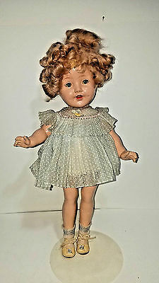 """1930s Shirley Temple-Type 19"""" Composition Doll"""