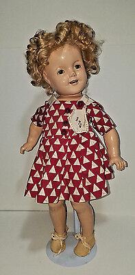 """1930s Ideal 18"""" Shirley Temple Composition Doll"""