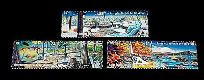 U.n. 2003, Intl. Year Of Freshwater, Pairs, Mnh, All 3 Offices Nice!! Lqqk!!!
