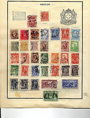 Greece collection 81 stamps 3 pages 1886-1940 mint and used