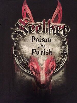Seether Poison The Parish Official Tour T-shirt (M) New