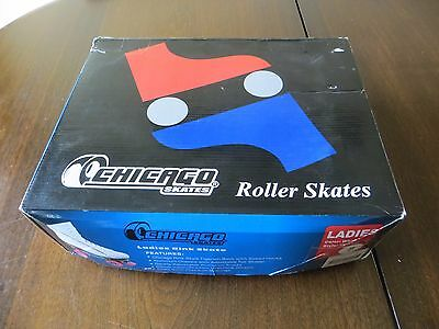 Chicago Rink Roller Skates - Women's Size 8 White With Pink Wheels CRS400 NEW!