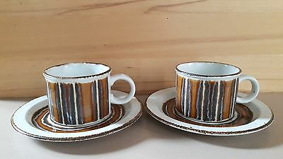 Midwinter Stonehenge Wedgwood Earth Pattern 2 Cups & 2 plates 7''