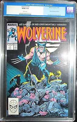 Wolverine (1988) 1 CGC 9.9 MINT 1st Logan as Patch appearance and monthly series