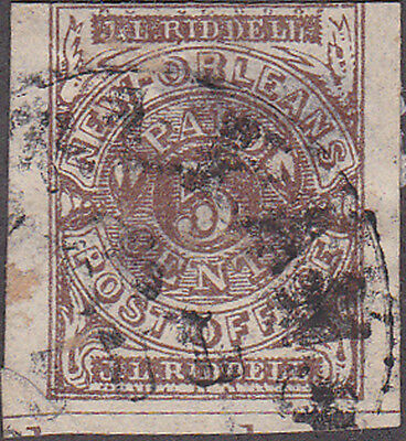 Confederate New Orleans Postmaster Provisional Position 35 Stamp