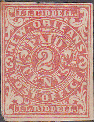 New Orleans Confederate Postmaster Provisional Two Cent Stamp
