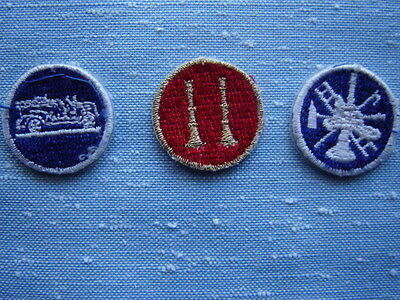 Three Fire Department Embroidered Collar Patches