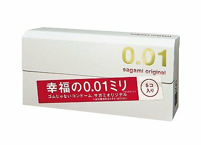 Sagami Original 001 5pcs Ultra Thin Condom 0.01mm Shipping from Japan