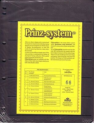 10  Prinz System 6  strip double sided Pages stock sheet