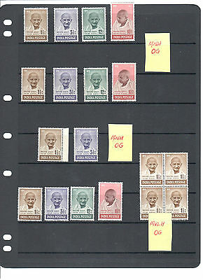 INDIA,1948 ,Sg 305-308 collection,MNH and MVLH sets with OG.