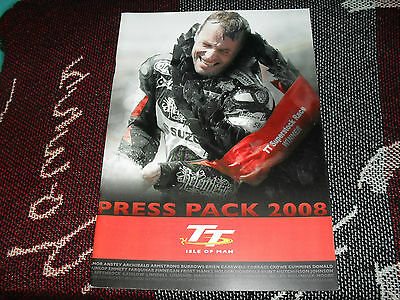2008 Isle Of Man Tt Press Pack Booklet - Bruce Anstey Cover