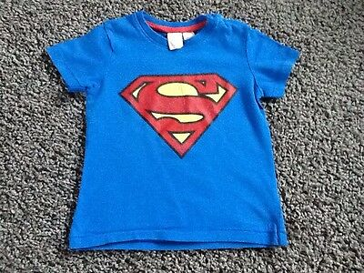 Tee Shirt H&M 12/18 Mois Superman Tbe