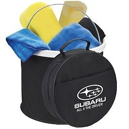 Genuine Subaru Car Wash Kit Include Bucket, Sponge And Cleaning Clothes New