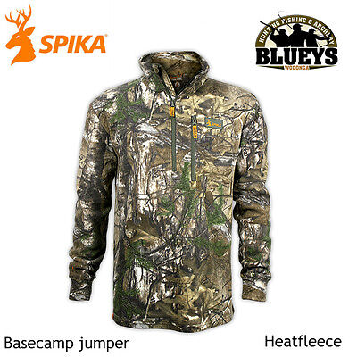 Spika mens Hunting Basecamp Realtree xtra Camo Heatfleece jumper H-103