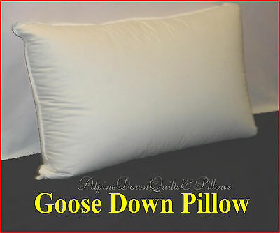 Hotel Deluxe  Quality  1 King Size Pillow  Goose Down 100% Cotton Cover