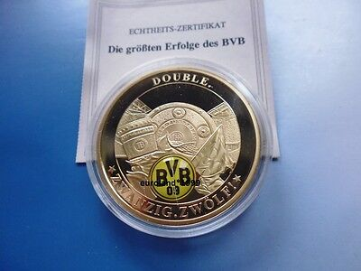 Bvb Dortmund - Double 2012 / Vergoldet Proof / Zertifikat
