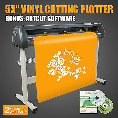 "53"" 1350Mm Vinyl Cutting Plotter Artcut Software Designed Plotting Contour Cut"