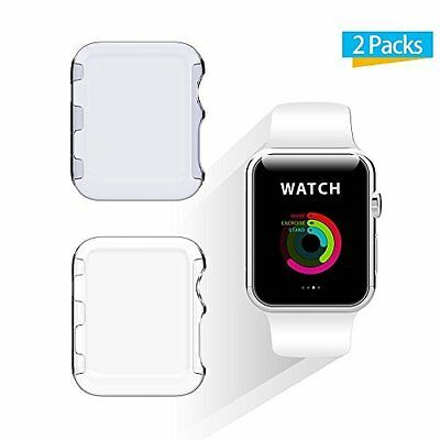Apple Watch 38mm Screen Protector Case for Apple Watch Series 2 2Pack Clear+Grey