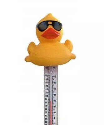 Swimming Pool Spa Hot Tub WaterThermometer Novelty Sunglasses Cool Dude Duck