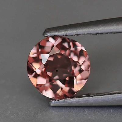 "0.52cts ""Tanzania"" Natural Malaya Garnet ""Imperial Pink To Red ""Round Cut"" PR907"