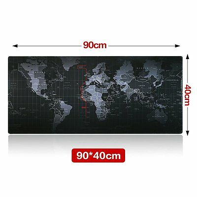 Mouse Mat Gaming Pad Large Size World Map Speed Edition For PC Computer Keyboard