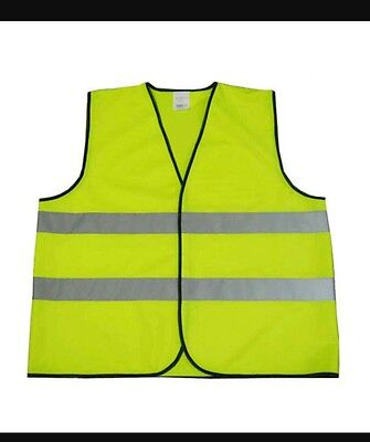 yellow high visibility vest mesh XL cycling building