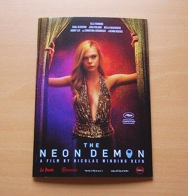 THE NEON DEMON Official Pressbook Cannes 2016 Nicolas Winding Refn Elle Fanning