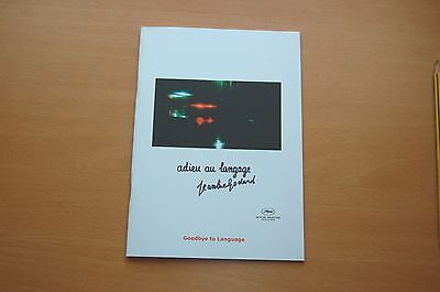 Jean-Luc Godard GOODBYE TO LANGUAGE Official Pressbook Cannes Film Festival 2014