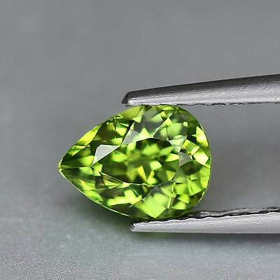 "0.92cts""Mali"" Vivid Mint Green"" Very Rare Natural Mali Garnet"" Pear Cut"" PR1192"