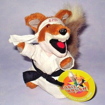 "Golden Bear - Basil Brush In Karate Outfit 6"" Beanie Plush Soft Toy W/ Card Tag"