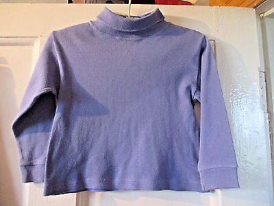 VINTAGE 1990's  GIRLS LADYBIRD  LILAC POLO NECK JUMPERS AGE 3-4 YRS  104 cm