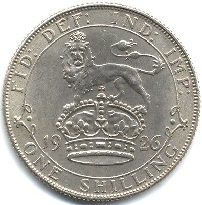 1926 George V Silver One Shilling Old Effigy***High Grade***Collectors***