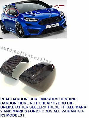 Ford Focus Carbon Fibre Wing Mirror Covers Caps Focus Mk2 Mk3 St Rs Tdci Mondeo