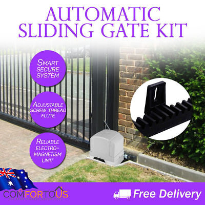 Sliding Gate Opener Automatic 6M Hardware Kit 1200 KG with 2 Remote Controls