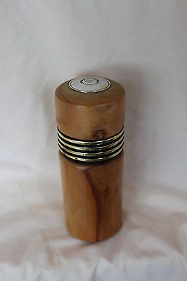 Wood Pepper Mill Genin Trudeau Battery Push Button Pepper Grinder Nice Woodgrain