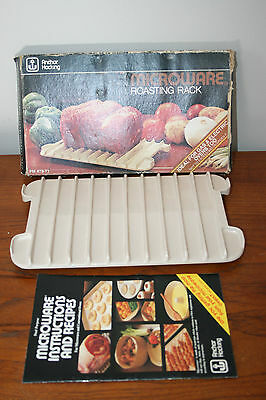 Anchor Hocking Microware Roasting Rack Bacon Cooking Tray for Oven or Microwave