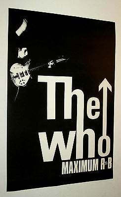 The Who Maximum R & B Poster Vintage  19.5 By 28 Inches, Mod, Ska